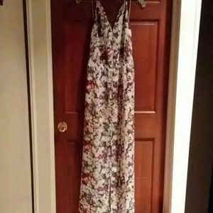 NWT Guess MultiColor Abstract Halter Maxi Dress M